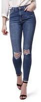 Topshop Women's Jamie Rip High Waist Skinny Jeans