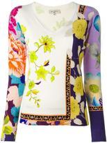 Etro floral print sweatshirt - women - Silk/Spandex/Elastane - 40