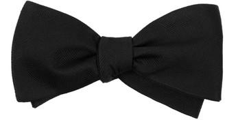 Tie Bar Grosgrain Solid Black Bow Tie