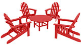 Polywood Classic Folding Adirondack Conversation Group Set (5 PC)