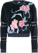 See by Chloe cut out floral sweatshirt - women - Cotton/Polyester - S