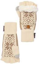 Muk Luks Snowflake Nordic Faux Fur Lined Pop-Top Gloves