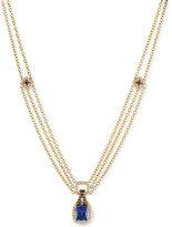 LeVian Le Vian Chocolatier® Tanzanite (2 ct. t.w.) and Diamond (1-1/10 ct. t.w.) Pendant Necklace in 14k Gold