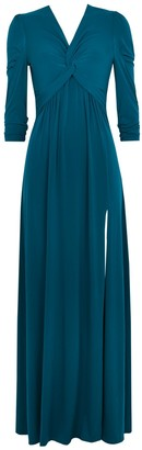 Wallis **Jolie Moi Teal Twist Maxi Dress