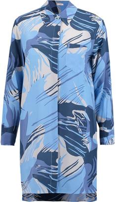 Equipment Kerry Printed Washed-silk Shirt Dress