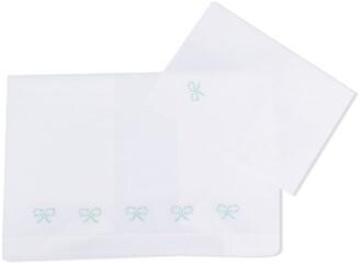 Mariella Ferrari Bow Embroidered Sheets