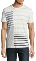 French Connection Wara Striped Patchwork Crewneck T-Shirt