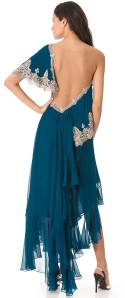 Marchesa One Shoulder Gown
