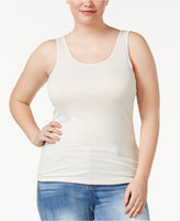 Celebrity Pink Trendy Plus Size Ribbed Tank Top