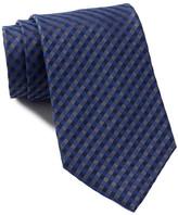 Calvin Klein Denim Gingham Tie - Extra Long