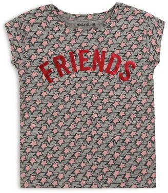 Zadig & Voltaire Friends Star Print T-Shirt (6-16 Years)