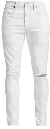 Hudson Zack Acid Wash Distressed Skinny Jeans
