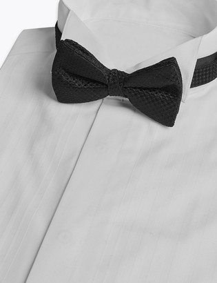 Marks and Spencer Pure Silk Textured Bow Tie