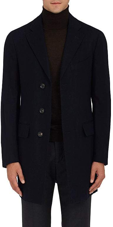 Isaia Men's Cashmere Three-Button Topcoat