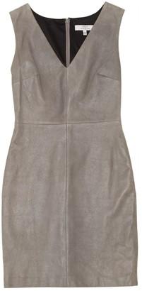 Robert Rodriguez Grey Leather Dresses