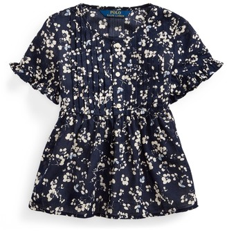 Ralph Lauren Floral Cotton Dobby Top