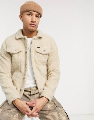 Soul Star borg jacket in beige
