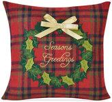 "Victoria Classics Season's Greetings 16"" Square Decorative Pillow"