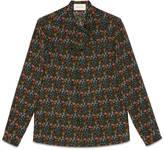 Gucci Vintage flowers silk Cambridge shirt