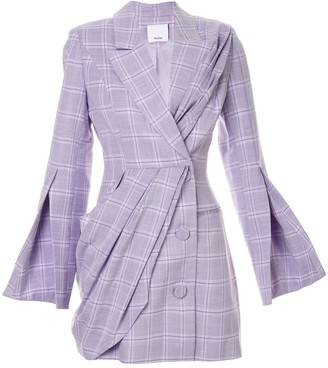 Acler Plymouth checked tailored dress