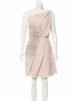 Genny Embellished Knee-Length Dress w/ Tags Pink