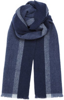 Vertical Wool Stripe Scarf