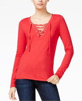 Joe's Jeans Amora Lace-Up Top