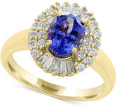Effy Tanzanite Royalé by Tanzanite (1-1/8 ct. t.w.) and Diamond (1/2 ct. t.w.) Ring in 14k Gold