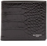 Givenchy Bi-fold crocodile-effect leather wallet