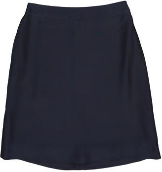 Prada Navy Silk Skirt for Women