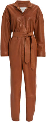 Nixon Notes Du Nord Leather Jumpsuit
