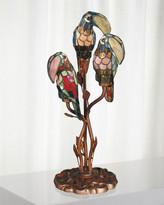 Dale Tiffany Three Parrots Tiffany Table Lamp