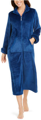 Miss Elaine Fleece Long Zipper Robe