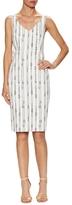 Max Mara Obliqua Cotton Stripes Sheath Dress