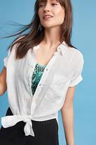 Cp Shades Tie-Front Linen Buttondown