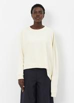 MM6 MAISON MARGIELA off white sweatshirt