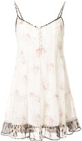 Thumbnail for your product : R 13 Silk Floral Print Dress