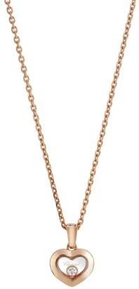 Chopard Rose Gold and Diamond Happy Diamonds Icons Pendant
