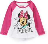 Children's Apparel Network Minnie Mouse Raglan Tee - Toddler