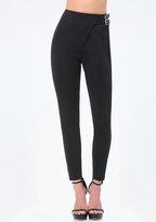 Bebe 2-Buckle Crossover Pants