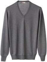Thumbnail for your product : Tasselli Cashmere - Ultralight Merino Silk and Cashmere V Neck (Grey)