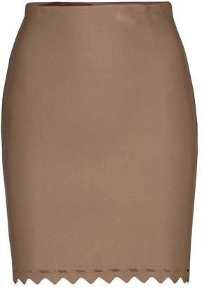 Alaia Laser-cut stretch-knit miniskirt