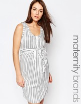 Isabella Oliver Stripe Dress With Tie Waist