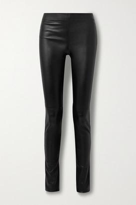 Joseph Stretch-leather Leggings - Black