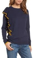 Halogen Petite Women's Asymmetrical Ruffle Sweater