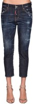 DSQUARED2 COOL GIRL CROPPED DENIM JEANS