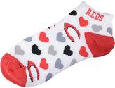 For Bare Feet Women's Cincinnati Reds Heart Logo Repeat Socks