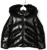 Moncler faux fur trim hooded jacket