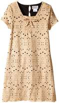 Us Angels Laser Cut Suede Dress (Big Kids)