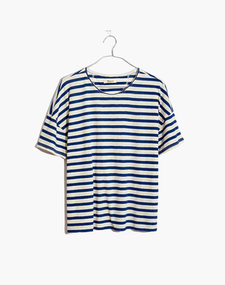 Madewell Raw-Edged Hangout Tee in Ashmead Stripe
